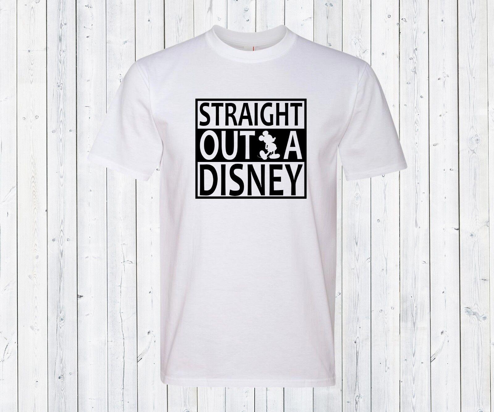 Straight Outta Disney Mens Shirt Disneyland Gift for hubby