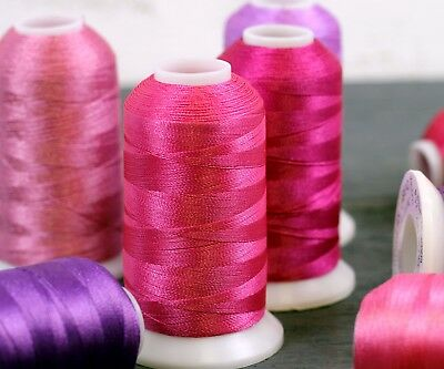 Threadart Polyester Embroidery Thread - Big 1000m Cones - 40 wt- Over 200 Colors