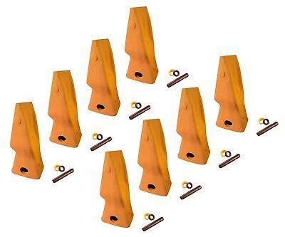 8 - Heavy Duty Abrasion Loader Bucket Teeth W Pins Fits Cat J250 - 9n-4253