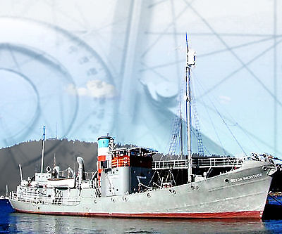 """Model Boat Plans 33"""" R2 Whalecatcher Rario control Full Size Printed Plans-Notes"""