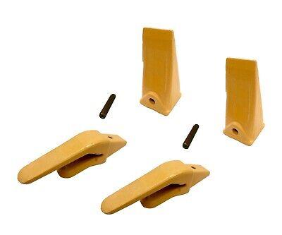 2 Mini Excavator Weld-on Adapters Teeth Pin Combo 238-3204 34 238-3202 Sp