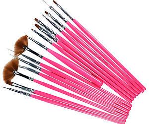 15pcs-Pink-Nail-Art-Gel-Painting-Drawing-Dotting-Pen-Polish-Brush-Set-L245