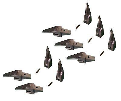5 Mini Excavator Bucket Teeth Weld-on Shanks 1 Lip Pins - X156tl 550x156