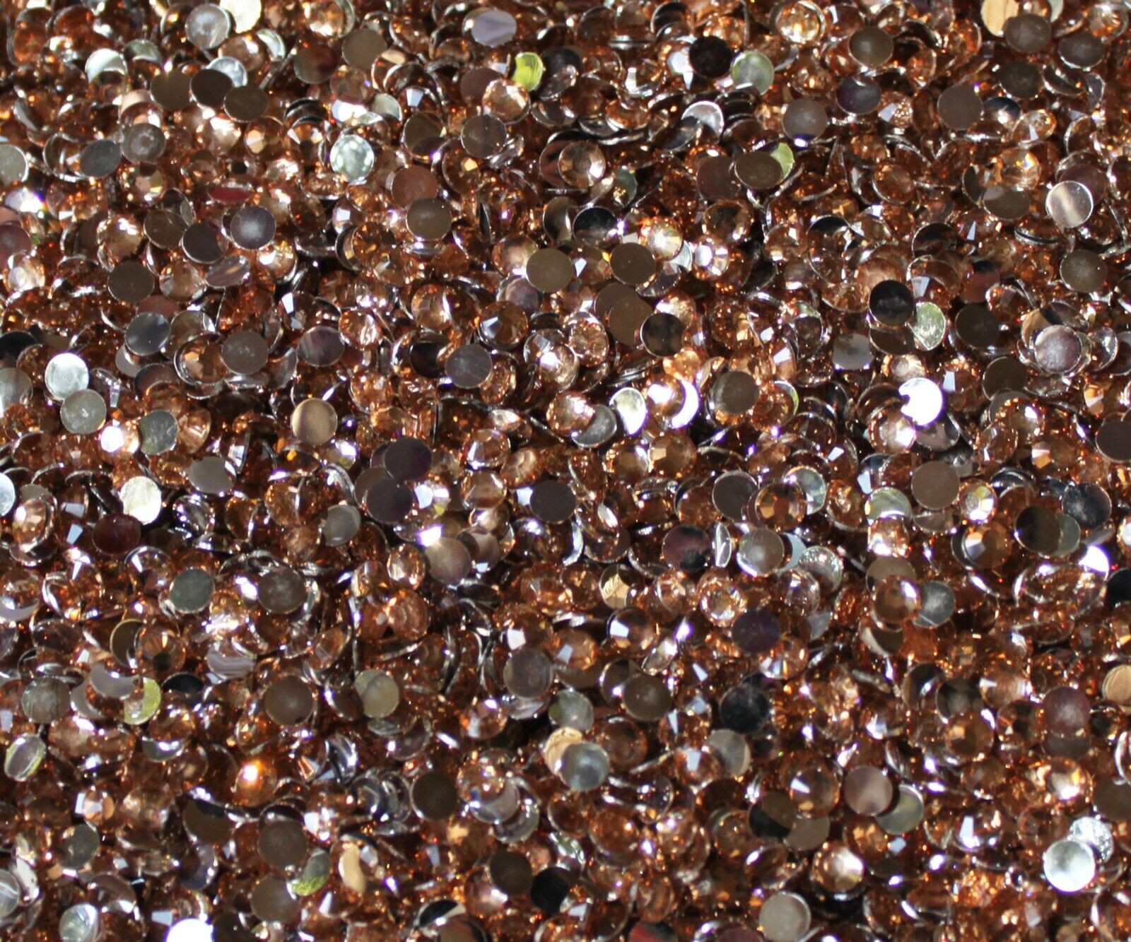 1000 Crystal Flat Back Resin Rhinestones Gems 60 colors, 2mm, 3mm, 4mm, 5mm, 6.5 CHAMPAGNE