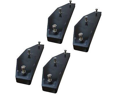 4 - John Deere 310 410 510 Backhoe Stabilizer Pad - 3 Bolt - At195669
