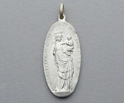 Vintage Locket  monogram of  Notre dame de Paris Necklace very rare