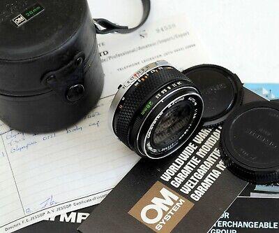 [Mint] Olympus OM-System G.Zuiko Auto-W f/3.5 28mm  + Case caps & paperwork, usado segunda mano  Embacar hacia Spain