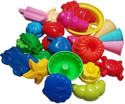Großes Förmchen Set 10 Stück Sandspielzeug Strandspielzeug Sandkasten