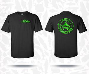 Salt addiction fishing t shirt saltwater shirt ocean beach for Custom saltwater fishing shirts