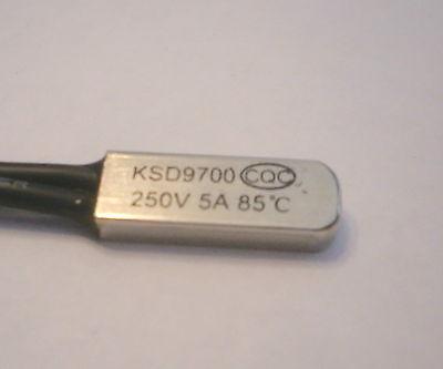 Thermostat KSD9700 65ºC to 85ºC 5A contact NO