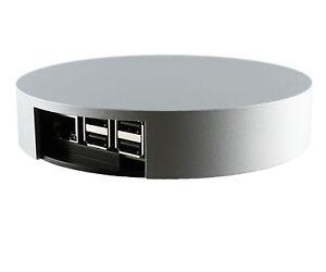 Orbital Case - das runde Gehäuse für den Raspberry Pi 3 B (Silver)