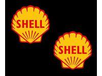 Shell motorsport Sticker//Autocollant x2
