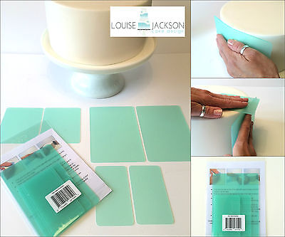 FLEXI CAKE SMOOTHER SET 6 PIECE GREEN for sharp edges and a perfect finish