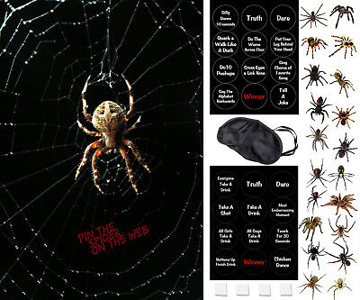 Games On Halloween Party (Halloween Party Game - Pin The Spider On The Web - Includes a Family Friendly)