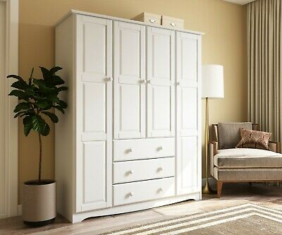 100% Solid Wood Family Wardrobe/Armoire/Closet by Palace Imports, 5 Colors ()