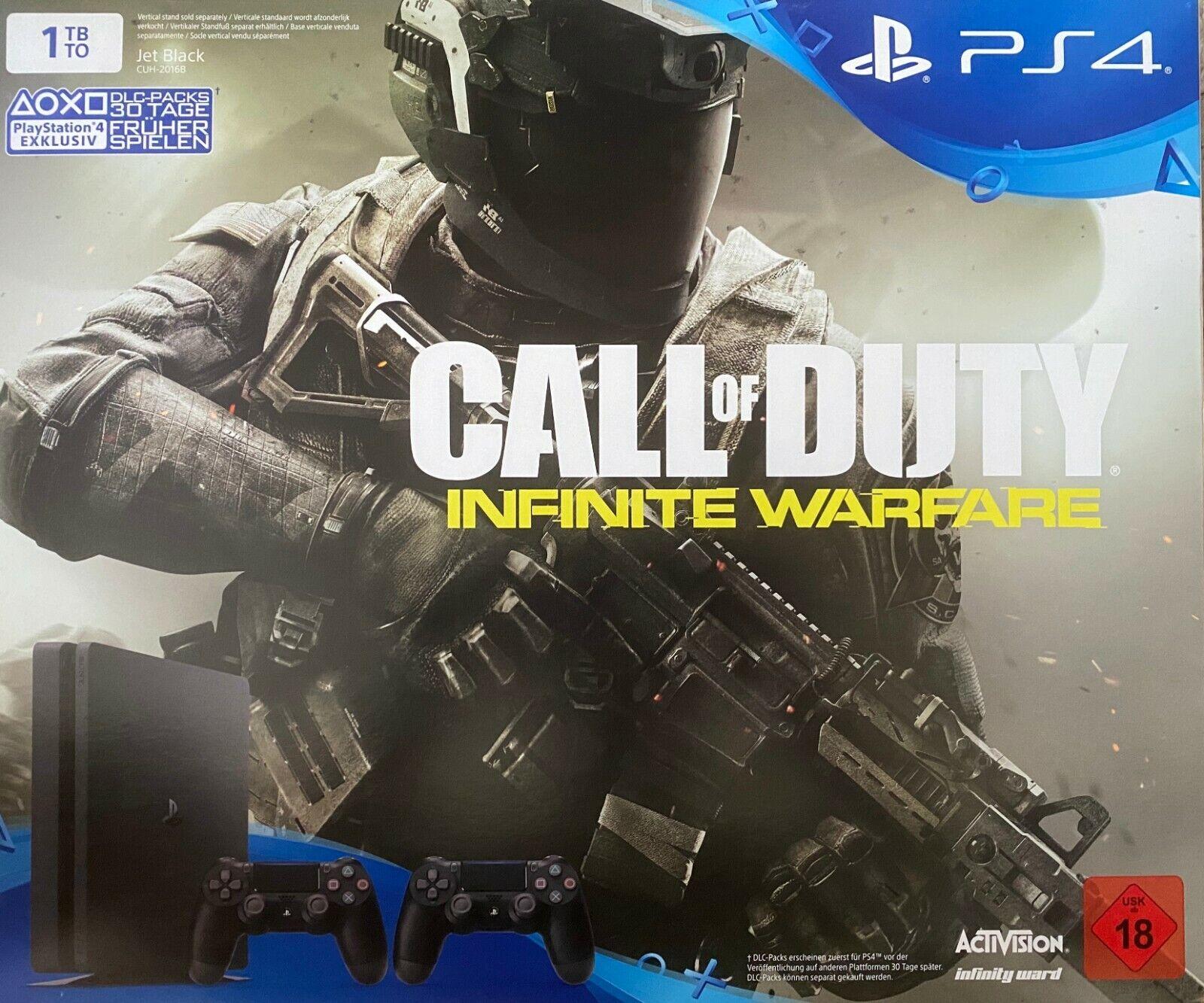 Sony PlayStation 4 Slim 1TB CUH-2016B inkl. 2. Controller und Call of Duty