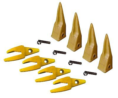 4- Cat Style J200 Backhoe Bucket Shank 34 Lip Rock Teeth 1u-3202tl 119-3205