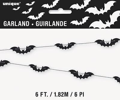 Halloween Black Bats Party Garland Banner Bunting Vampire Party Bat Decoration