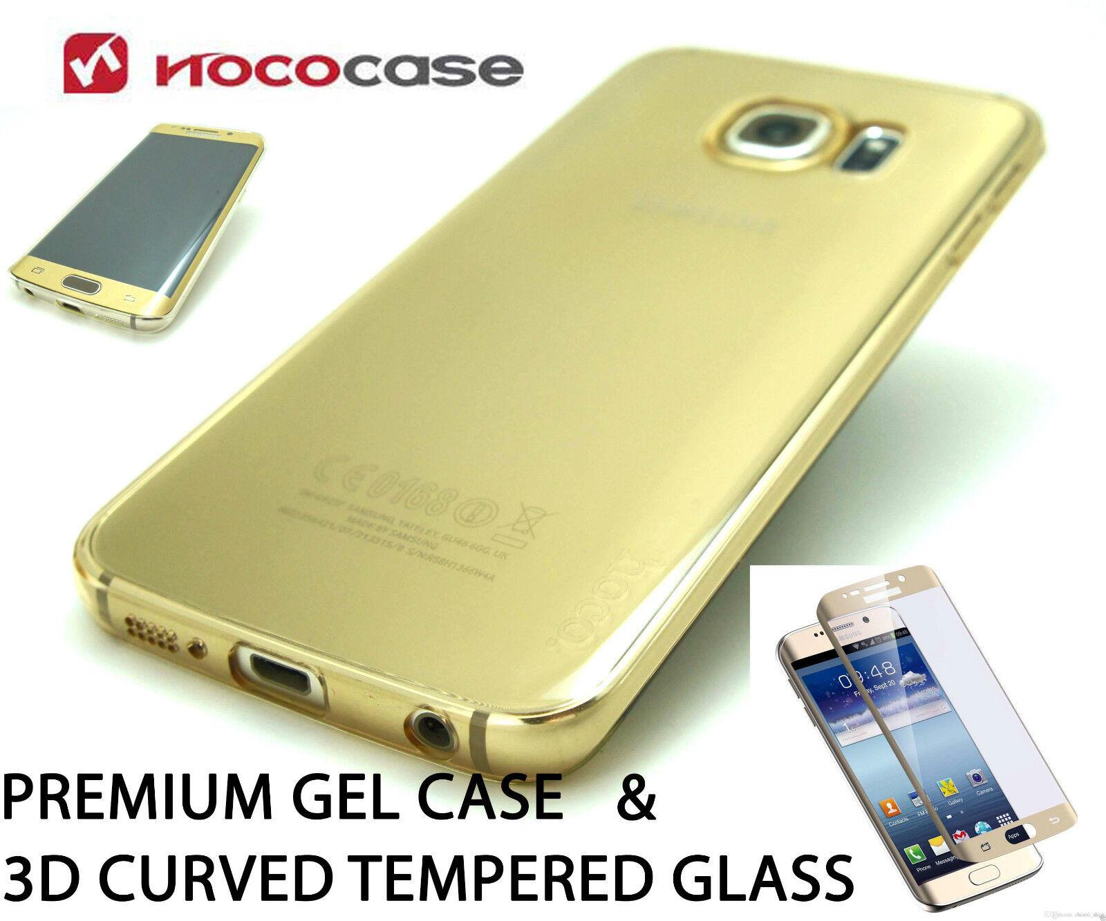 8f89d2aa3a4 Ultra delgado transparente Gel de TPU cubre y vidrio templado para Samsung  Galaxy S6 borde