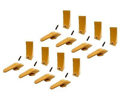 8 Mini Excavator Weld-on Adapters Teeth Pins Combo 238-3204 58 238-3202 Lp