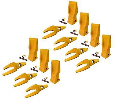 7 Cat Style Backhoe Shanks 34 Lip Abrasion Teeth 4t-2203 119-3205 W Pins