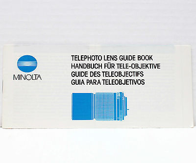 Инструкции и руководства Minolta Telephoto Lens