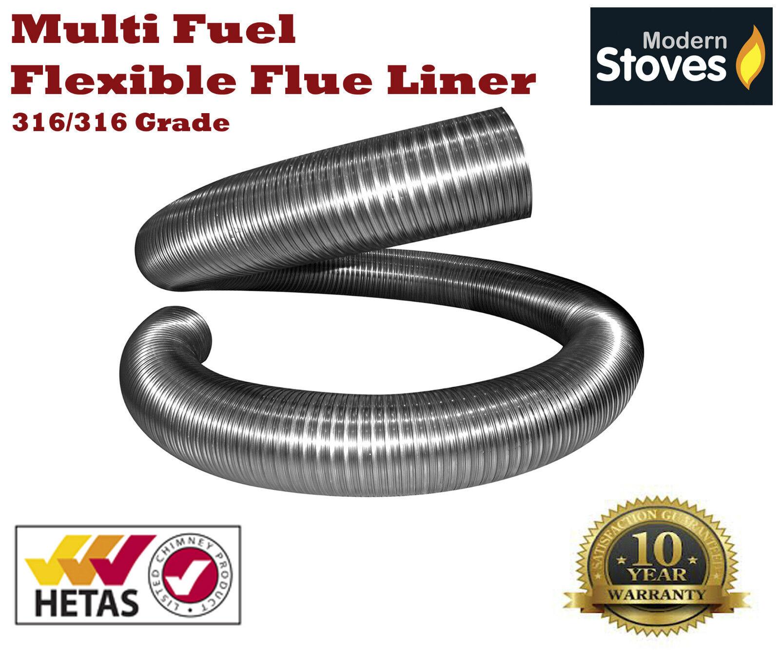 Multi-Fuel Stainless Steel Flexible Chimney Flue Liner for Wood ...