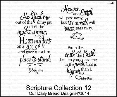 Our Daily Bread Designs Cling Stamp Set Scripture Collection 12  Bible Verses
