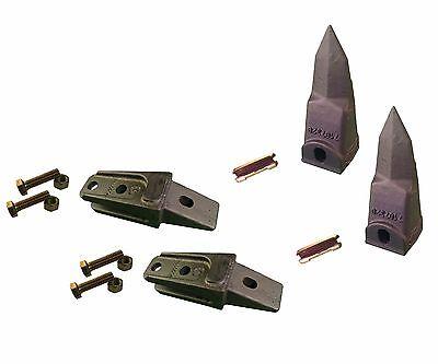 2 - Bobcat Style Mini Ex Skid Bucket Shank Rock Tooth Pin - 7107324 7107320