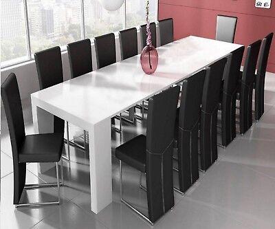 Tavolo consolle allungabile 3 metri 14 posti salvaspazio multiposizione bianco