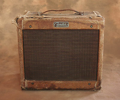 1958 Vintage Fender Champ Tweed Tubed Amp Amplifier 5F1