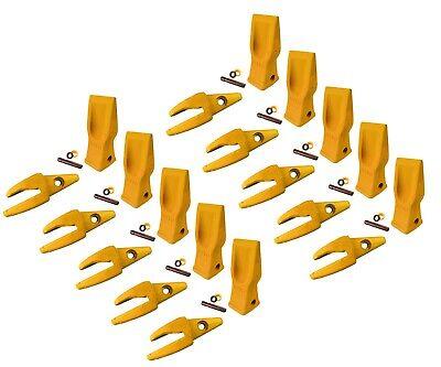 10 Cat Style Backhoe Shanks 34 Lip Abrasion Teeth 4t-2203 119-3205 W Pins