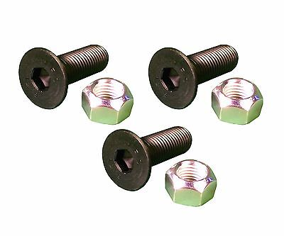 3 - Caterpillar Style Skid Steer Cutting Edge Bolts W Nuts - 159-2953 8t-4778