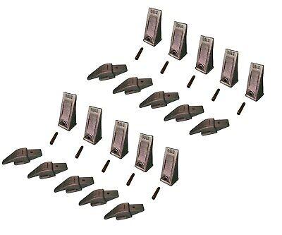10 Ex Backhoe Skid Bucket Weld-on Shanksteeth Pins 34 Lip- 552x156 X156
