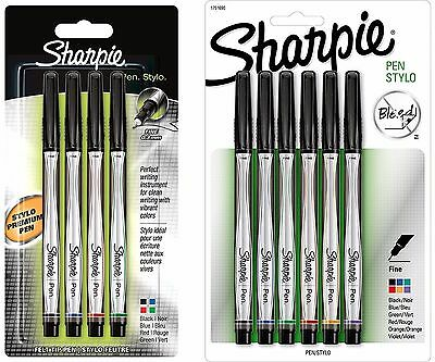 Sharpie Stylo Pen Ultra Fine Tip 0.3mm Fibre 4 Pack Black Red Blue Green