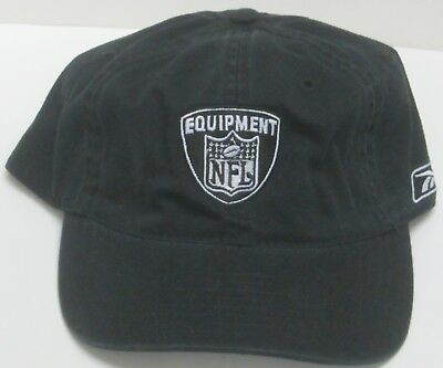 official photos 1e97a ce13a NFL Equipment Black Relaxed Fit Adjustable Dad Hat By Reebok