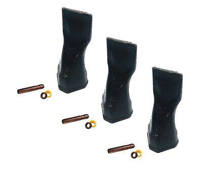 3 Backhoe Bucket Teeth 208-5232 Chisel Tip W Pins Fits Cat Drs230 Ser Adapters