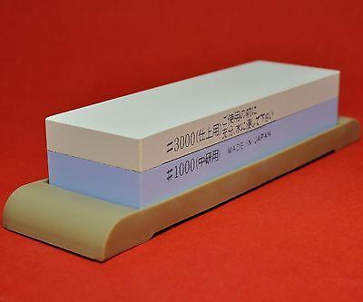 Japan waterstone dual whetstone sharpen duo #1000/3000 pierre aiguiser Japon
