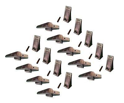 9 Ex Backhoe Skid Bucket Weld-on Shanks Teeth Pins 1 Lip- 550x156 X156