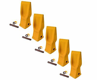 5 Cat Style Excavator Backhoe Skid Bucket H.d. Abrasion Bucket Teeth- 4t-2203