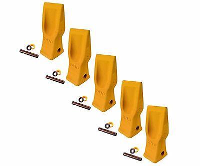 5 Cat Style Excavator, Backhoe, Skid Bucket H.D. Abrasion Bucket Teeth- 4T-2203