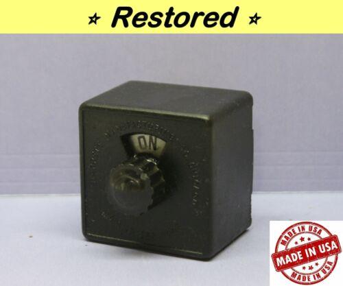 Vintage Panel Board Rotary Switch - Double-Pole, DPST, Bakelite, Starrett - RARE