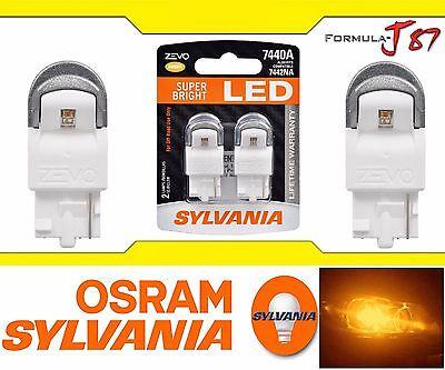 Sylvania ZEVO LED Light 7440 Amber Orange Two Bulbs Rear Turn Signal Replace OE