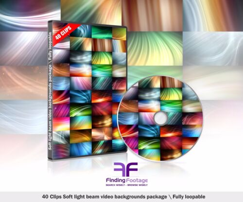 Soft Light Beam Visual Package \ 40 video backgrounds \ Full HD