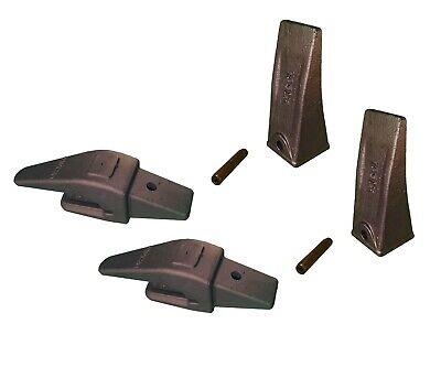 2 Mini Ex Backhoe Bucket Adapters 552x156 For 34 Lip Teeth X156l Pins