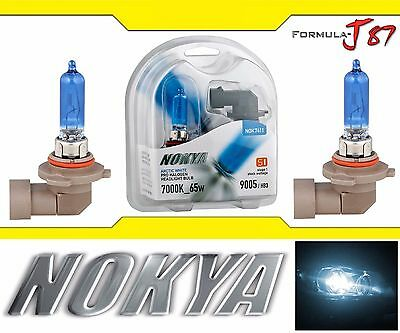 Nokya 7000K White 9005 HB3 Nok7411 65W Two Bulbs Head Light Hi Beam Plug Play OE