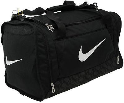 Nike Bag Black Gym Brasilia Sports Training Small Weekend Away Grip Holdall Bag