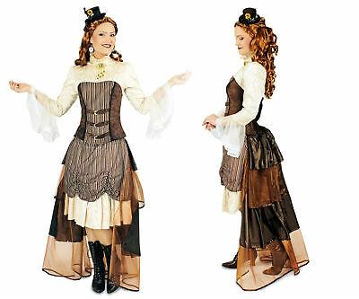 Damen Kostüm Steampunk Viktoria Saloon Girl Western Reiterin Gr.40-46 - Saloon Girl Kostüm