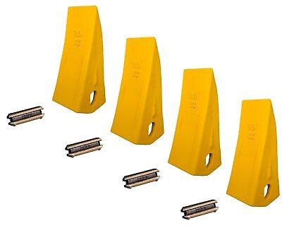 4 Backhoe Excavator Skid Bucket Heavy Duty Long Teeth W Pins - 230hxl 230pn