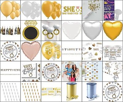 Engagement Party Supplies, Banners, Plates, Balloons, Garland, Confetti, Table